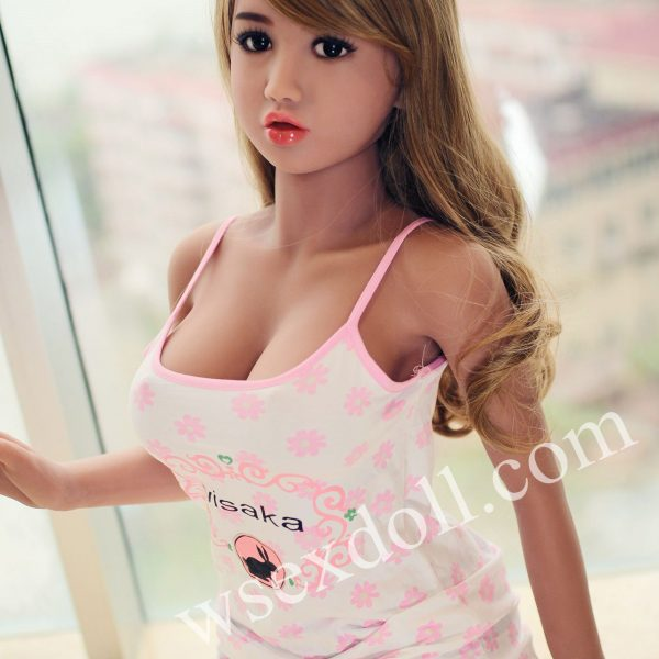 Tpe Blonde Long Curly Hair Bedroom Outfit Sex Doll