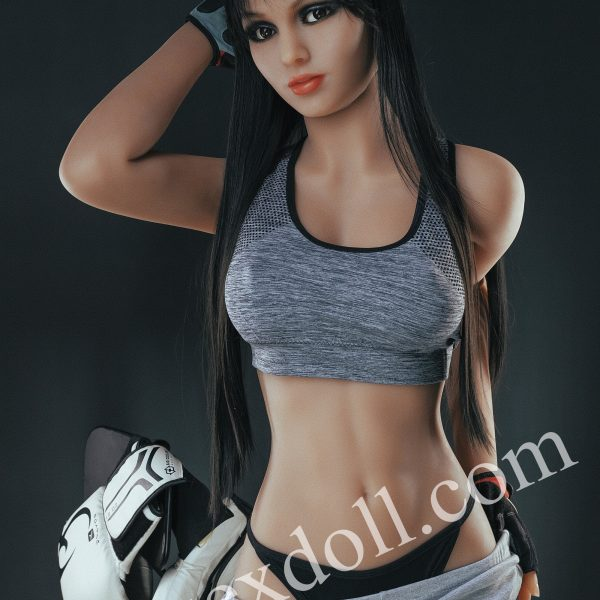 Tpe Full Body Sex Doll With Black Straight Hair