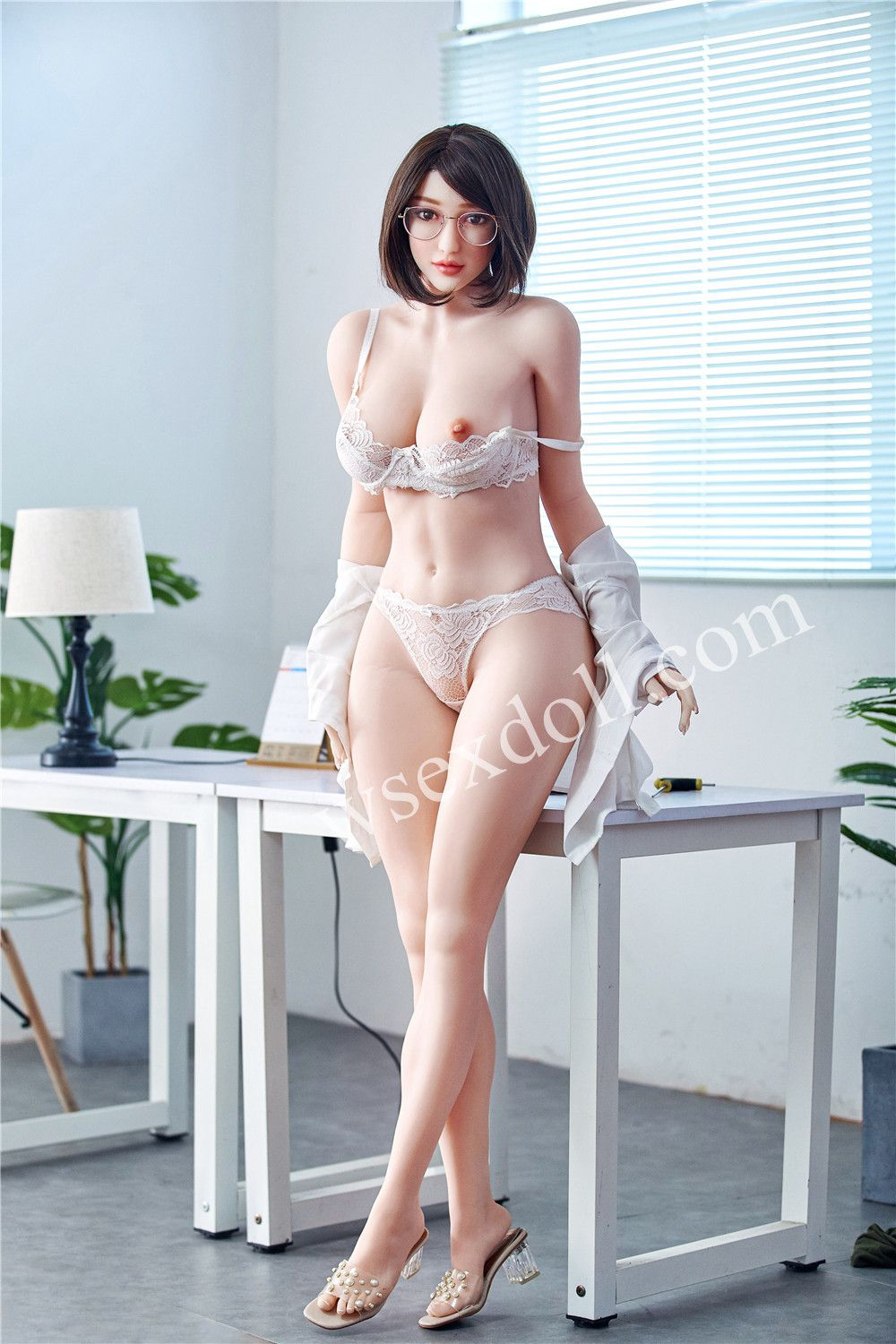 Workplace Women With Short Hair Realistic Full Body Tpe Sex Dolls