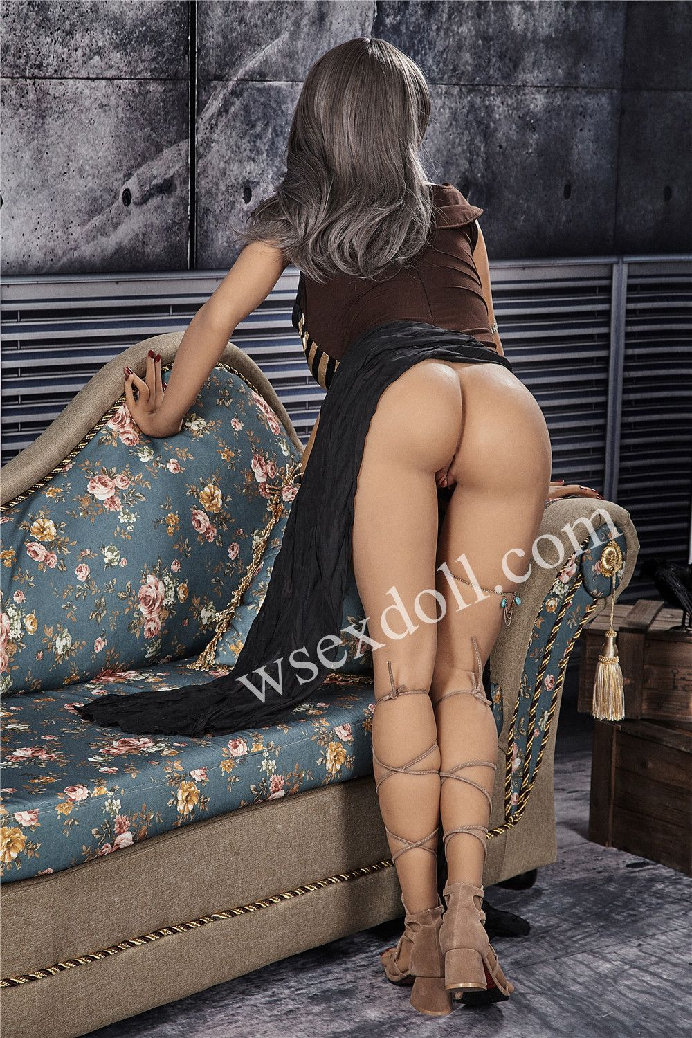 Full Body Busty Grey Haired Sexy Tpe Sex Doll