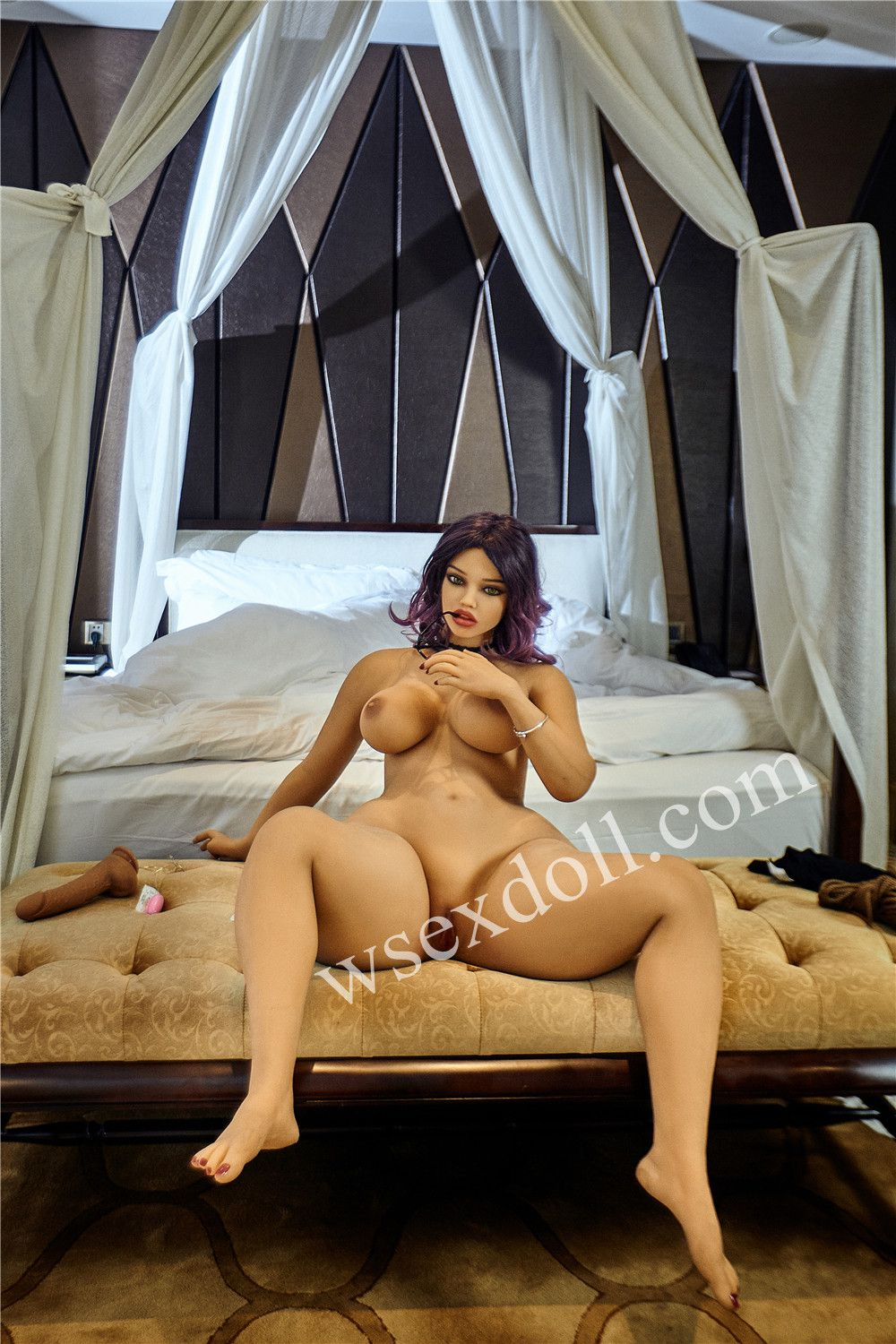Purple Haired Busty Full Body Tpe Sex Doll