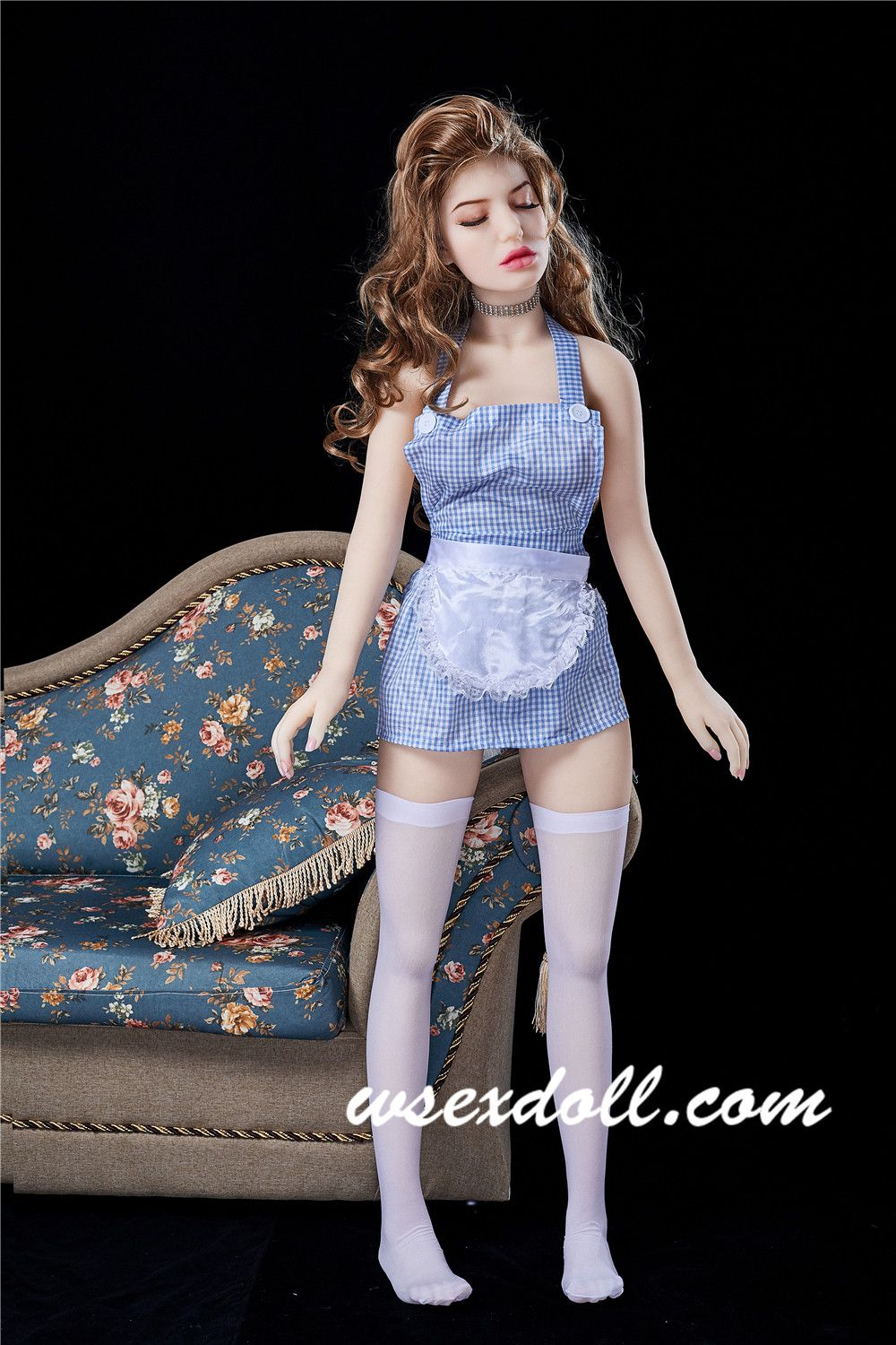 145cm Full Body Realistic Custom Sex Doll With Brown Curly Hair