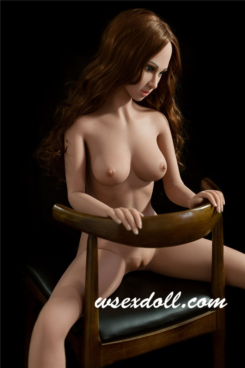 Full Body 155cm Long Curly Hair Tpe Sex Doll In Lace