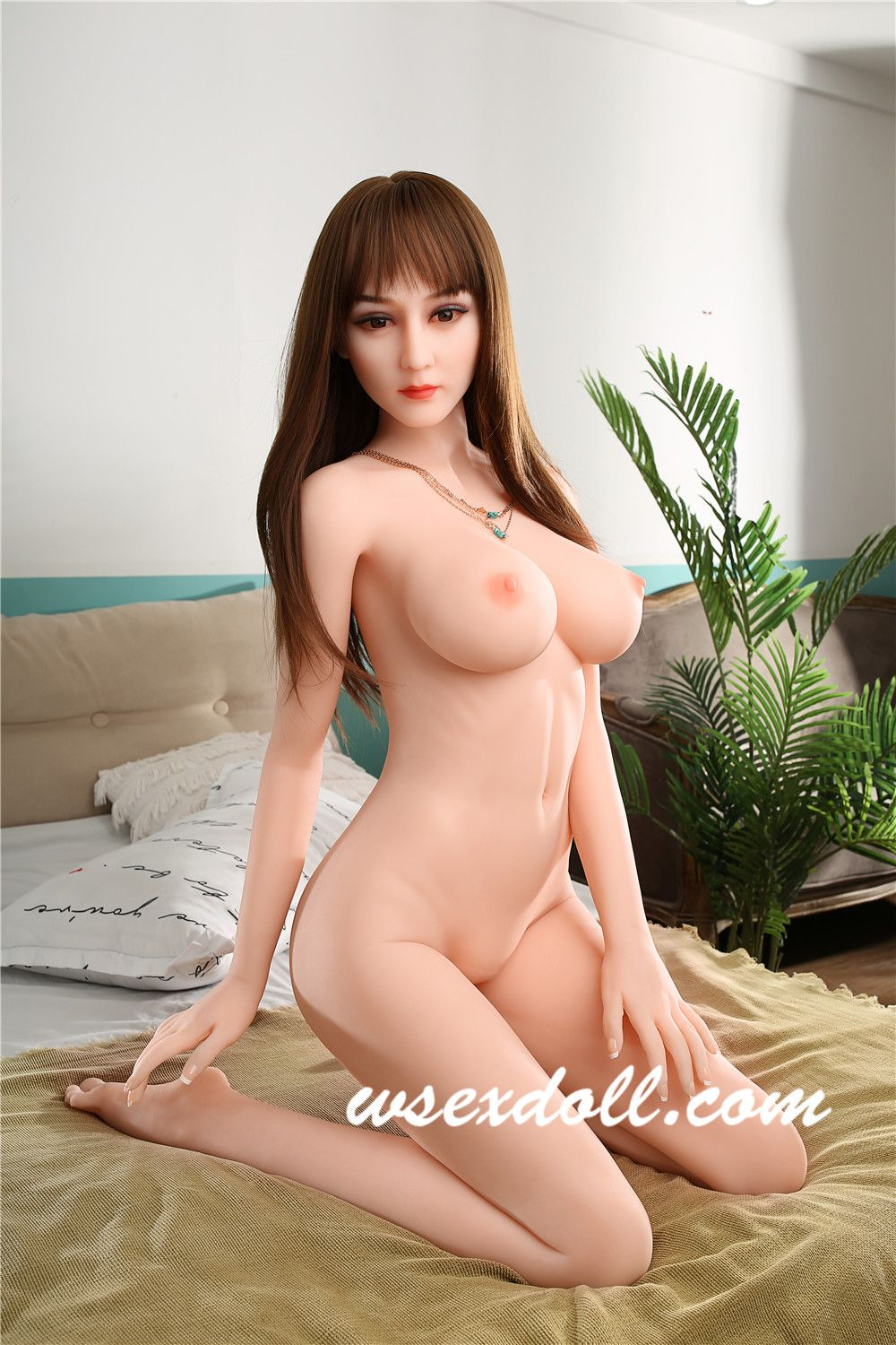 Full Body Sexy Green Camisole Dress Realistic Tpe Sex Doll