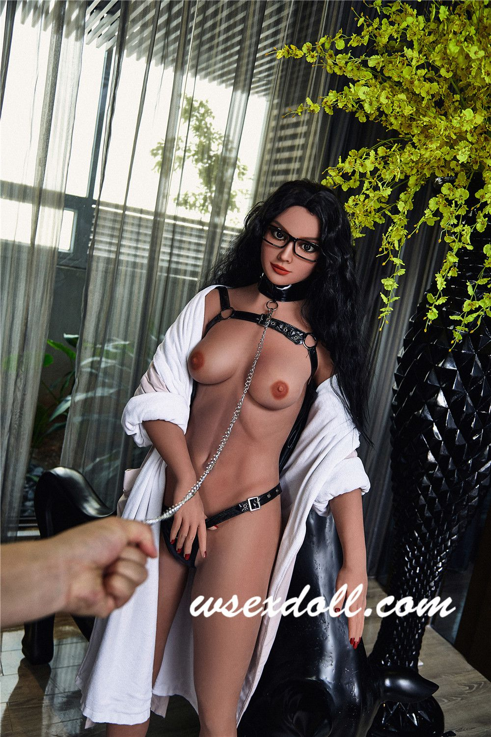 Full Body Black-haired Busty Sexy Tpe Sex Doll