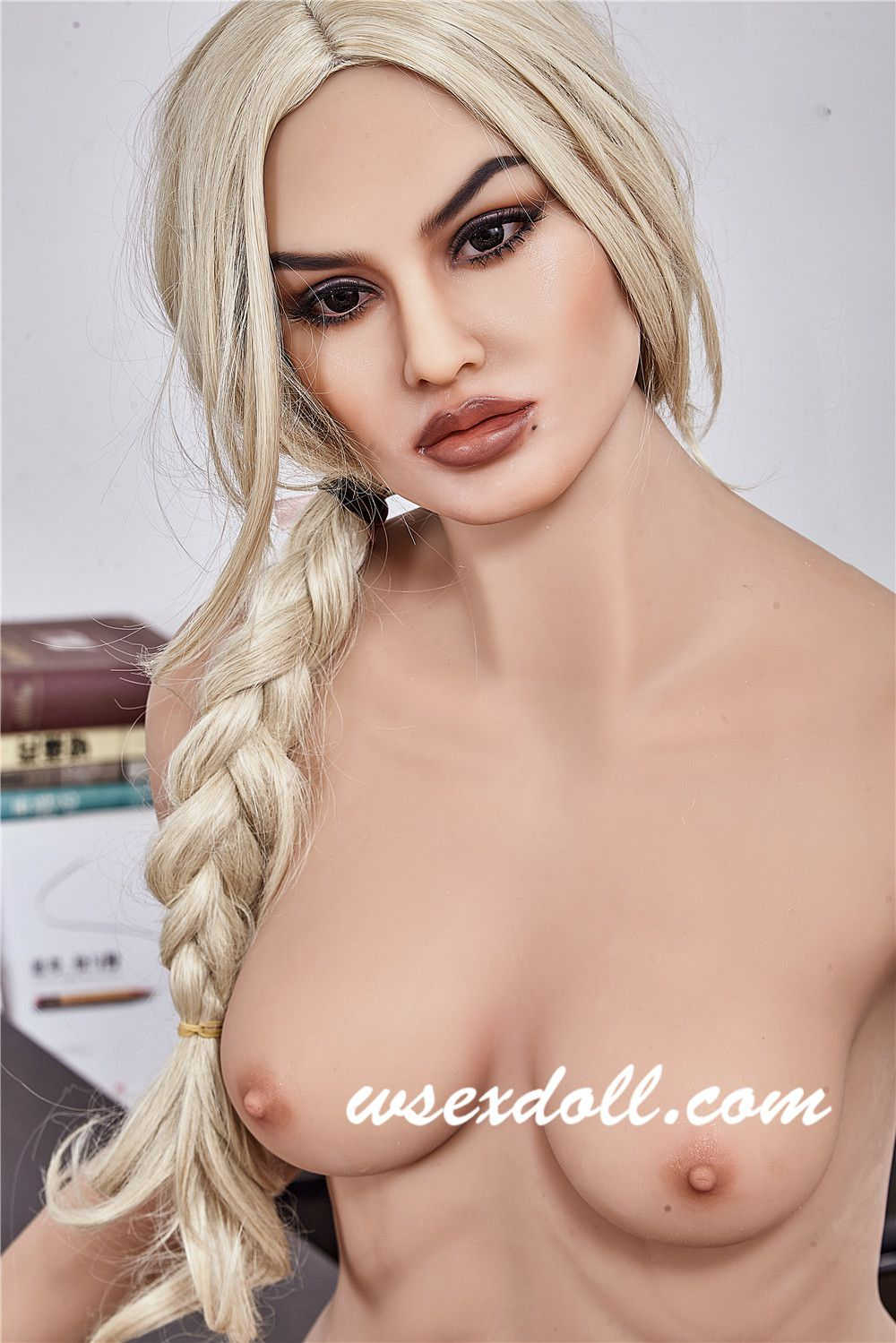 Full Body Blonde Haired Female Tpe Sex Doll In Workplace Suit