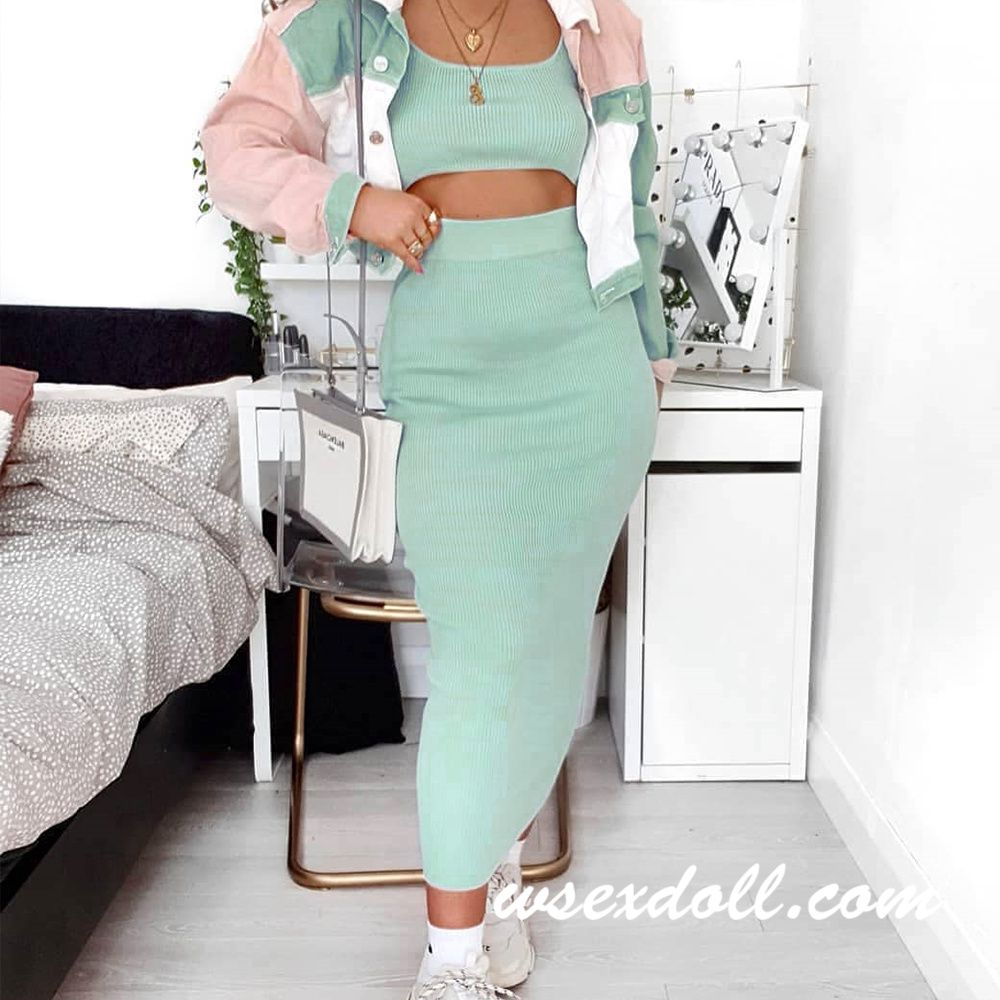Fresh Green Suit Sex Doll Clothes